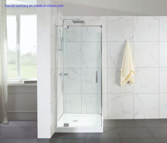 Frameless Spring Hinge Shower Enclosure Without Cut-out in Glass