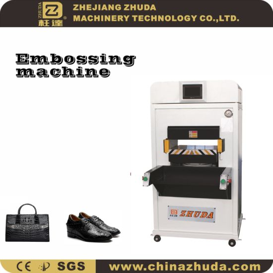 Medium 110t Heat Setting Automatic Hydraulic Embossing Machinery for Leather