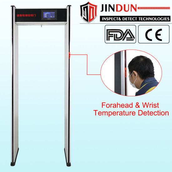 High Sensitivity Walk Through Temperature Scanner Gate with Metal Detector