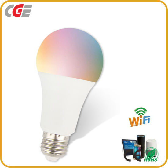 Wireless Smart WiFi LED Bulb Dimmable 10W Works with Amazon Alexa Google Assistant