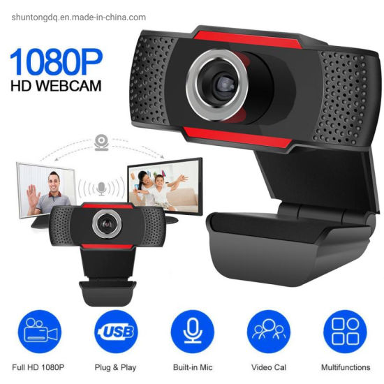USB Computer Webcam Full HD 1080P Webcam Camera Digital Web Cam with Micphone for Laptop Desktop PC Tablet Rotatable Camera pictures & photos