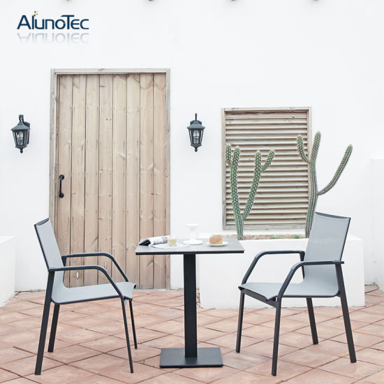 Outdoor Round Coffee Table White 2 Seat Chairs Garden Patio Furniture Set