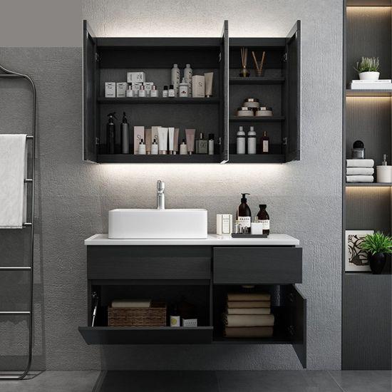 China Bathroom Cabinet Vanity, Black Wall Cabinet For Bathroom