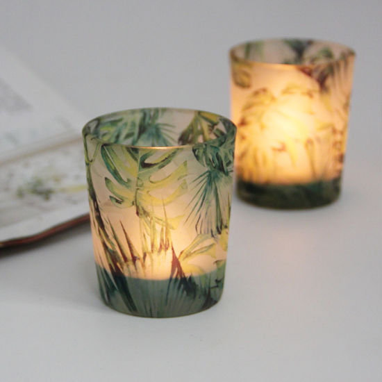 Wholesale Custom Hot Sale Glass Candle Holder, Candle Jars with Lid