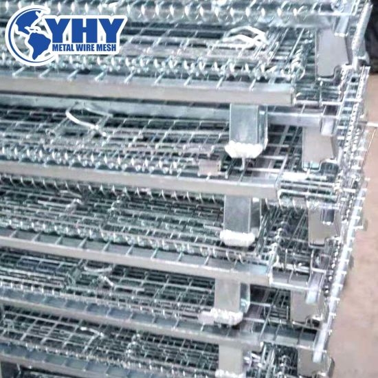Foldable Steel Warehouse Wire Mesh Storage Cage
