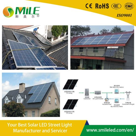 5kw Solar Moulde Charge Battery China Manufacture Pure Sine Wave Inverter Solar Power System