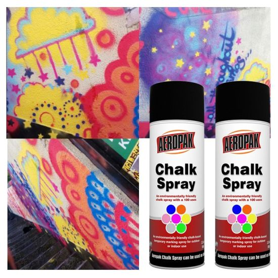 Aeropak Washable Chalk Paint Spray for Children Playing pictures & photos