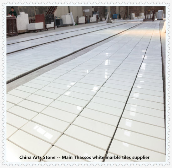 Bianco Thassos/ Crystal Pure White Nature Marble Tiles for Decoration Projects