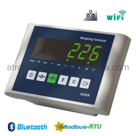 Green LED Display Plastic Housing Weighing Scale Indicator