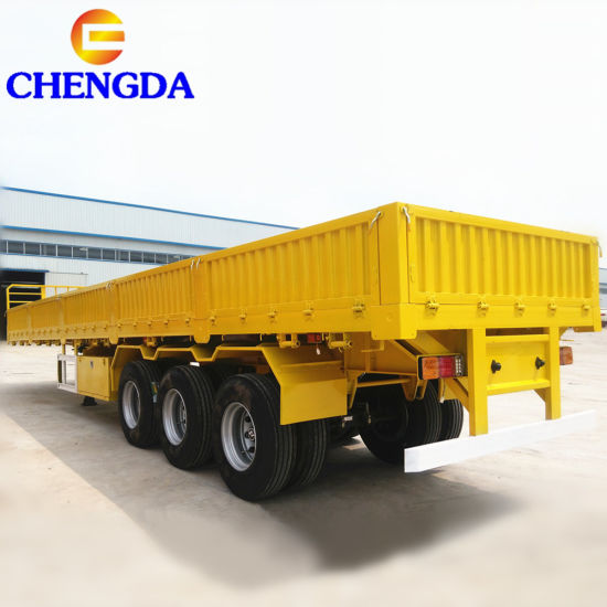 China 3 Axles Flat Bed Enclosed Cargo Semi Trailer Body Panels
