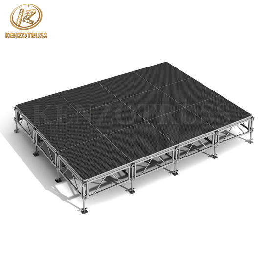 Portable Aluminum Stage Mobile Truss Stage Wooden Platform Stage for Event