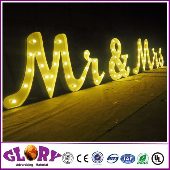 Custom Larger Marquee LED Sign 3D LED Lights for Wedding and Party pictures & photos