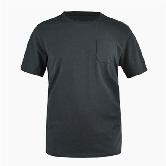 Custom Mens Crewneck Pocket Merino Wool Tshirt