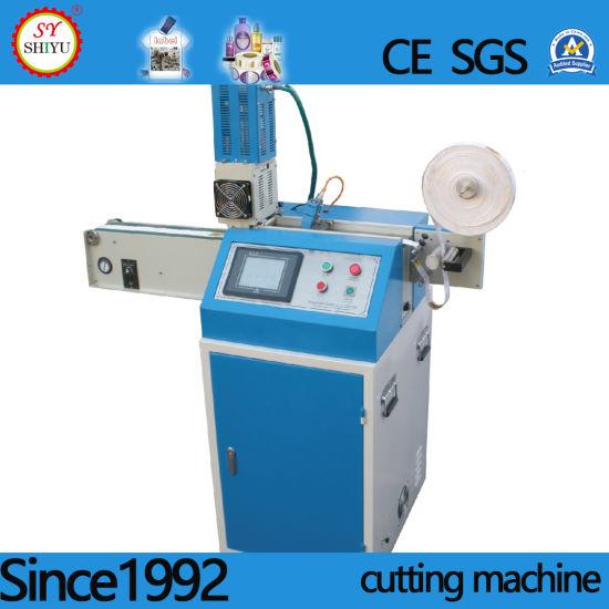 Full Automatic Satin Silk Ribbon Ribbon Nonwoven Fabric Label Ultrasonic Cutter Cutting Machinery