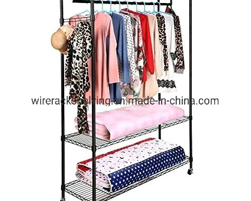 Wire Shelf Unit Garment Rack