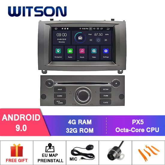 Witson Eight Core Android 9.0 Car DVD for Peugeot 407 4G ROM 1080P Touch Screen 32GB ROM IPS Screen pictures & photos