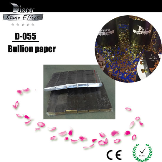 Factory Wholesales Colorful Optional Metallic Foil Flameproof Confetti Paper for Wedding Birthday Party Decorations