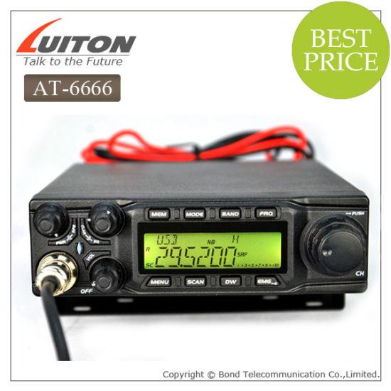 at-6666 Am FM USB Lsb Pw Cw 10 Meter CB Radio