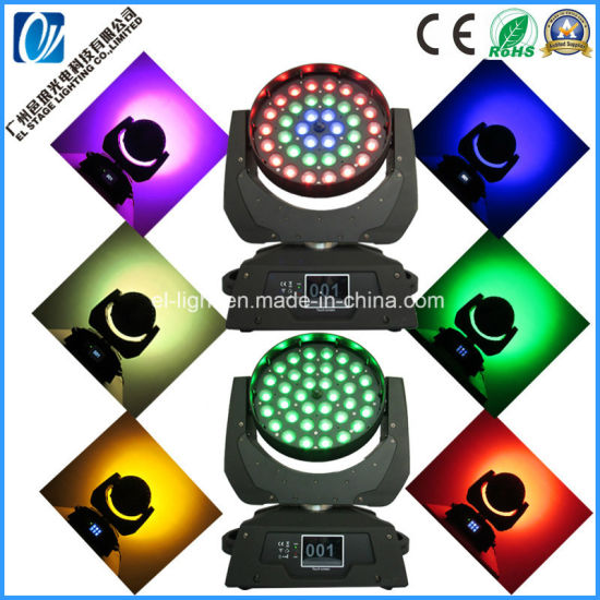 DJ Light 36X18W LED Wash Moving Head with Zoom Beam Effect Working Silent for Theater