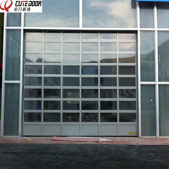 High Speed Residential Aluminum Sectional Frosted Glass Garage Door pictures & photos