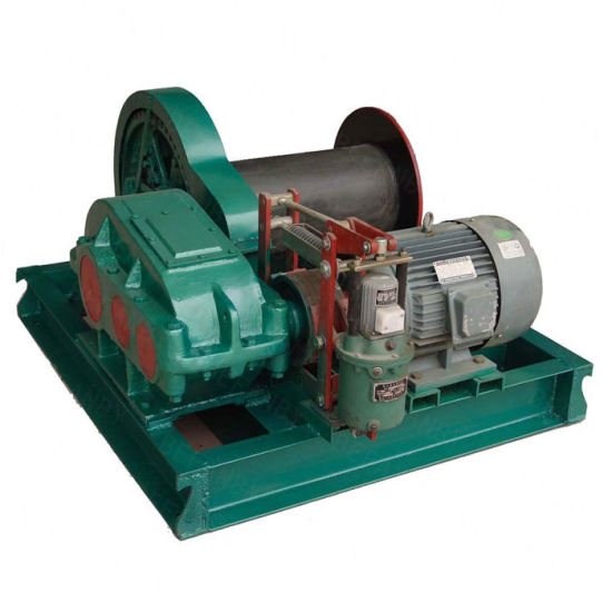 High Speed 8t Electric Winch with Single Cable Drum