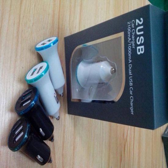 Dual Mini USB Bullet Car Charger for Smartphones