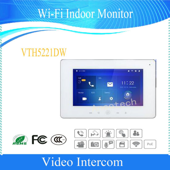 Dahua Wi-Fi Indoor Monitor Security System Video Intercom (VTH5221D/VTH5221DW)
