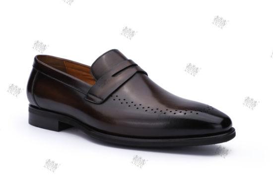 2021 Men Fashion Sports Shoes Leather Shoes Lace-up Business Dress Men Shoes