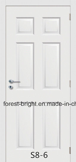 White Primed Hollow Core HDF Moulded Door