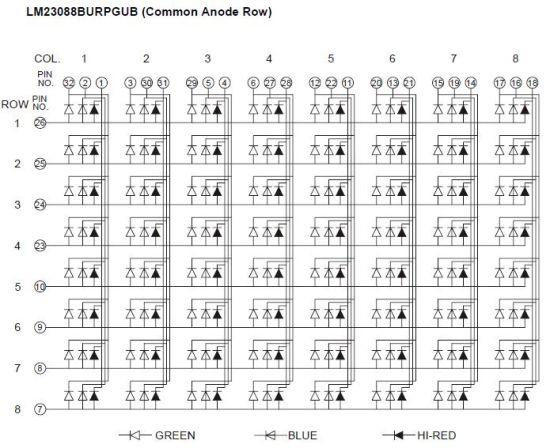 2 3 Inch 8X8 RGB LED DOT Matrix