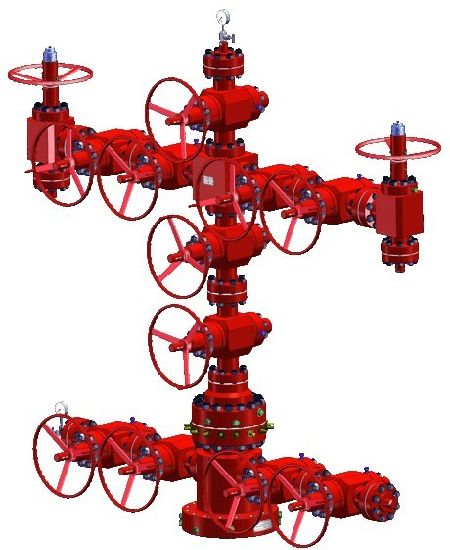 Wellhead Christmas Tree Diagram: China API 6A Wellhead Christmas Tree