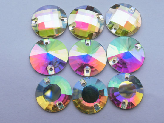 Stock Available Ab Round Crystal Sew on Stones pictures & photos