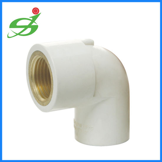 PN 10 Angle PP connector Angle 90 ° with Female Thread Plastic