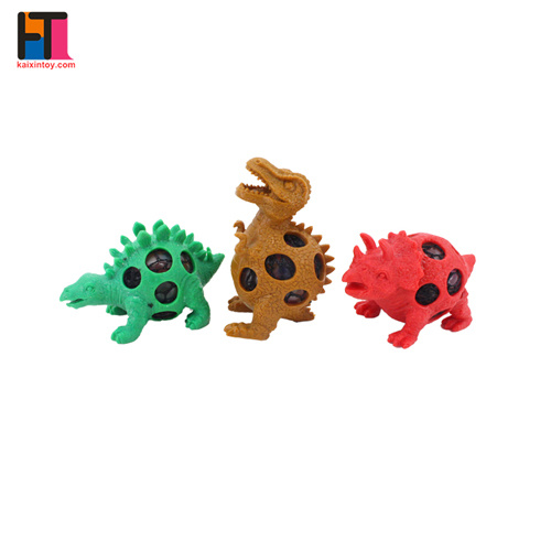 Dinosaur Design Eco Friendly Rubber Squishy Gel Mesh Stress Toy pictures & photos