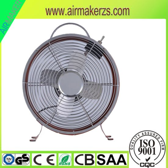 220V 25W Innovative Mini Clock Fan for Office with Ce pictures & photos