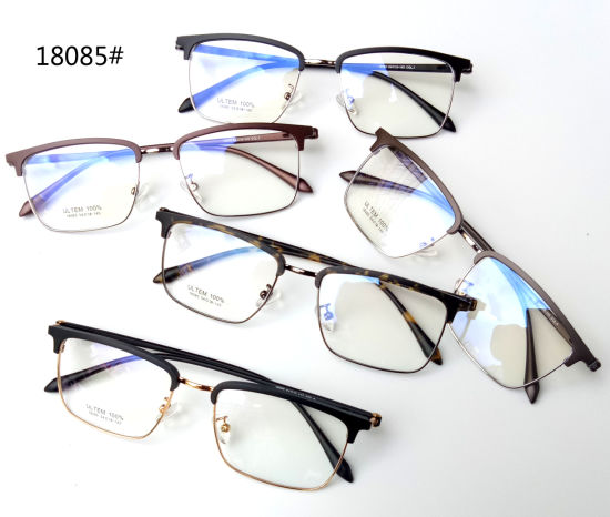 Classic Man Ultem Tr Temple Stainless Steel Optical Glasses Frame
