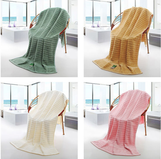 Wholesale Home Cleaning Sport Towel Soft Bamboo Fiber Face Hand Terry Bath Towel pictures & photos