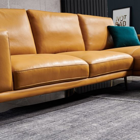 Living Room Colorful Leather Sofa