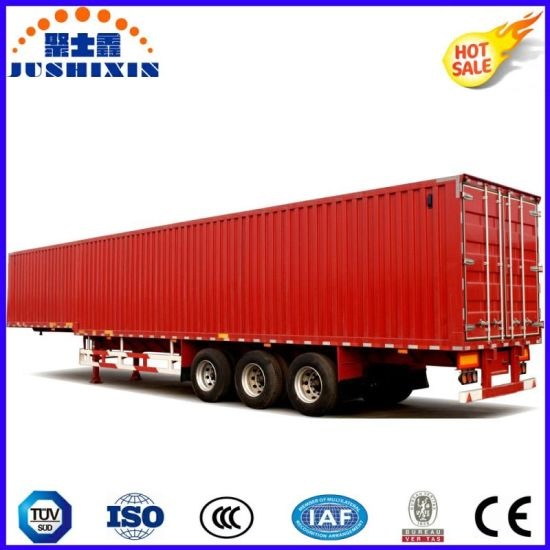 Hot Aluminium Wing Van/Box Trailer with 40ton Capacity, Electric Control Door for Sale pictures & photos