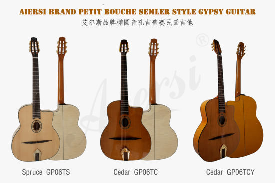 OEM Solid Cedar Figured Maple Body Vintage Gypsy Jazz Guitar pictures & photos