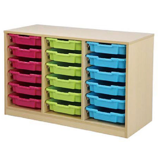 Preschool Children Wooden Toy Storage Cabinet With Big Drawer