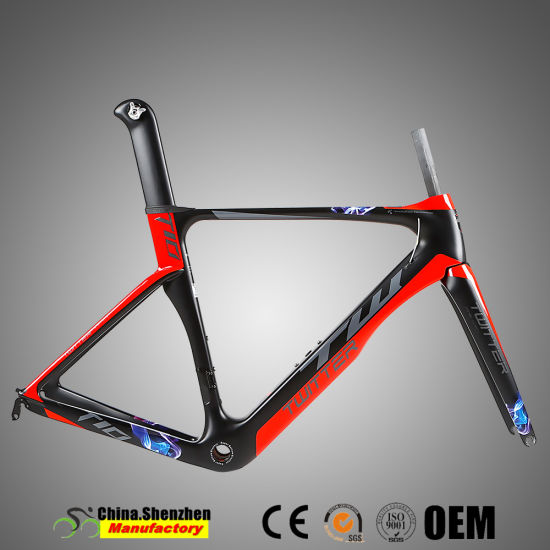 2018 New 700c carbon Fiber Road Frame with Fork pictures & photos