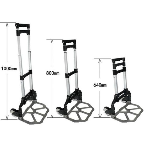 Aluminum Hand Truck with Black Color pictures & photos