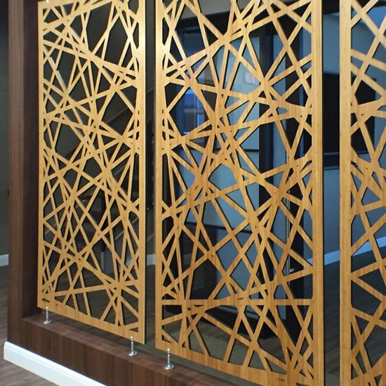 Laser Cut Metallic Paint Aluminum Screen Panels/ Mashrabiya Partition/ Room  Divider