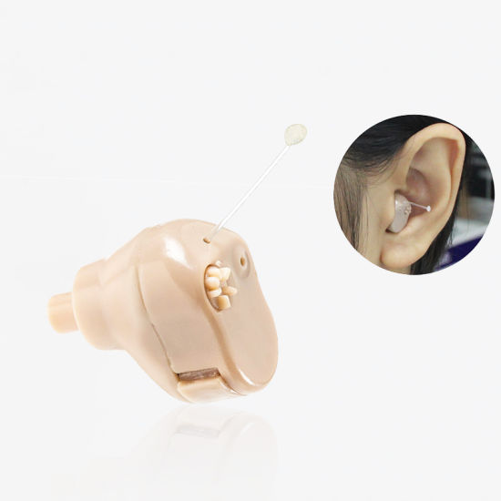 Super Mini In The Ear Hearing Aid Aids Amplifying Adjule Tone For Partially Deaf
