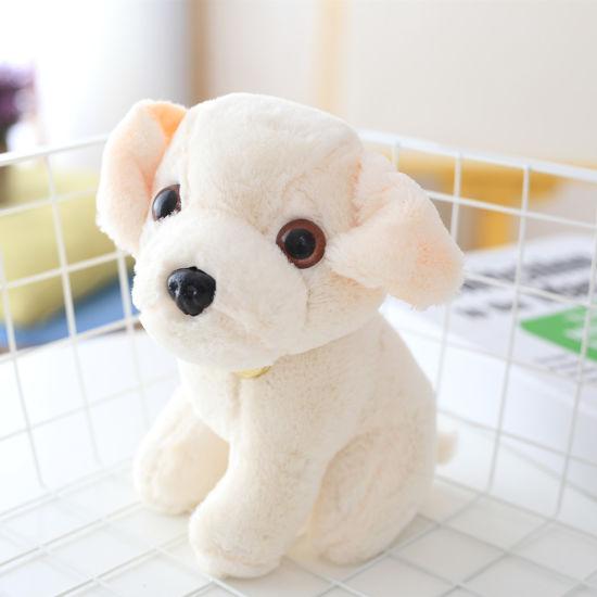 Fluffy Puppy Soft Stuffed Sitting Animal Dog Wholesale Plush Toy