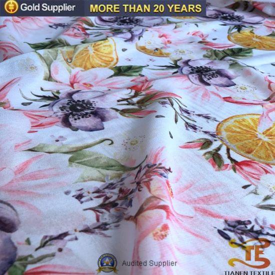 Beautiful Chinese Wholesale Digital Printing Chiffon Fabric for Dress