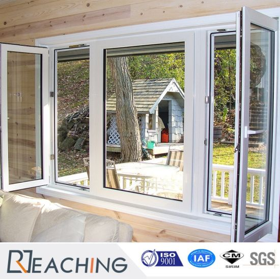 White UPVC Casement Windows with Stainless Steel Reinforcement pictures & photos