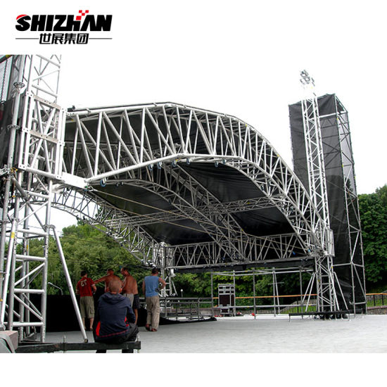 Customized Ceiling Lighting Truss System Round Aluminum Circle
