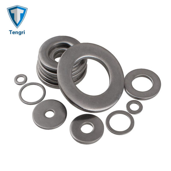 Screw Nut Flat Gasket Stainless Steel Flat Screw Washer Flat Washer External Toothed Gasket External Toothed for Household Appliances Commercial Appliances